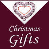 Cartolina di Natale con cuore decorativo illustrazione vettoriale