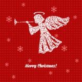 Cartolina di Natale con gli angeli Immagine Stock