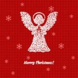 Cartolina di Natale con gli angeli Immagine Stock Libera da Diritti