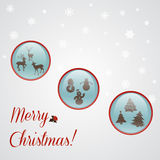 Cartolina di Natale con i bottoni di natale Illustrazione Vettoriale