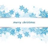 Cartolina di Natale con i fiocchi di neve Immagini Stock Libere da Diritti