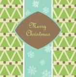 Cartolina di Natale con i pini Fotografia Stock Libera da Diritti