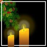 Cartolina di Natale con i rami del pino Illustrazione illustrazione vettoriale