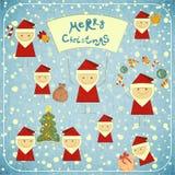 Cartolina di Natale con il Babbo Natale Fotografia Stock Libera da Diritti