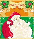 Cartolina di Natale con il Babbo Natale Fotografie Stock