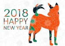 Cartolina di Natale con il cane royalty illustrazione gratis