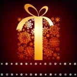 Cartolina di Natale con il contenitore di regalo. ENV 8 Fotografie Stock Libere da Diritti