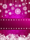 Cartolina di Natale con il fiocco di neve di natale. ENV 8 Immagini Stock