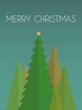 Cartolina di Natale con il pino Immagini Stock Libere da Diritti