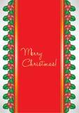 Cartolina di Natale con il vischio Fotografia Stock