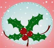 Cartolina di Natale con il vischio Immagini Stock
