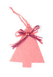 Cartolina di Natale con l'albero di Natale Immagini Stock Libere da Diritti