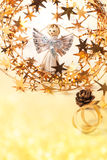Cartolina di Natale con l'angelo Fotografia Stock Libera da Diritti