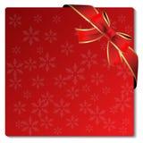Cartolina di Natale con l'arco Fotografie Stock