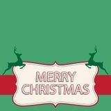 Cartolina di Natale con l'illustrazione di vettore dei cervi Fotografie Stock Libere da Diritti