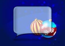 Cartolina di Natale con la bolla di discorso Immagine Stock Libera da Diritti