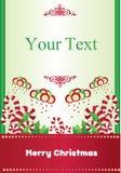 Cartolina di Natale con la caramella Immagine Stock Libera da Diritti