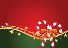Cartolina di Natale con la caramella Fotografia Stock