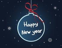Cartolina di Natale con la palla Fotografia Stock