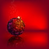 Cartolina di Natale con la sfera di natale delle stelle. ENV 8 Fotografie Stock Libere da Diritti