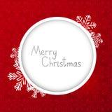 Cartolina di Natale con la struttura rotonda Fotografia Stock