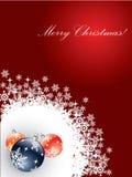 Cartolina di Natale con le decorazioni Immagine Stock Libera da Diritti