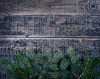 Cartolina di Natale con le decorazioni di natale Immagine Stock