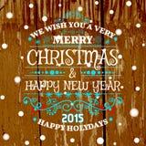 Cartolina di Natale con le palle di natale, vettore Immagine Stock