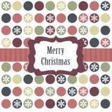 Cartolina di Natale con le sfere di natale Immagini Stock Libere da Diritti