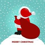 Cartolina di Natale con Santa Claus Immagine Stock Libera da Diritti