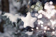 Cartolina di Natale Copi lo spazio Concetto di Natale Priorità bassa di festa Fotografia Stock