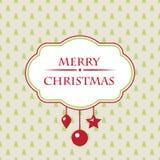 Cartolina di Natale d'annata Immagini Stock