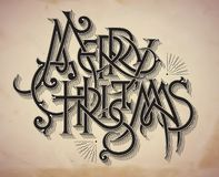 Cartolina di Natale d'annata di stile Fotografia Stock Libera da Diritti