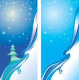 Cartolina di Natale decorativa Fotografia Stock