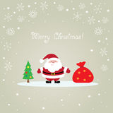 Cartolina di Natale del Babbo Natale Fotografie Stock Libere da Diritti