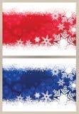 Cartolina di Natale del fiocco di neve Fotografia Stock Libera da Diritti