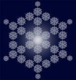 Cartolina di Natale del fiocco di neve Immagini Stock