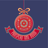 Cartolina di Natale del Portogallo Prospero Ano Novo Fotografia Stock Libera da Diritti