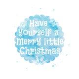 Cartolina di Natale dell'acquerello Immagini Stock Libere da Diritti