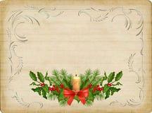 Cartolina di Natale dell'annata illustrazione vettoriale