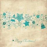 Cartolina di Natale dell'annata Immagini Stock
