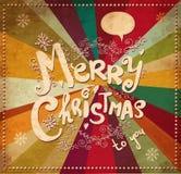 Cartolina di Natale dell'annata Fotografie Stock