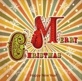 Cartolina di Natale dell'annata Fotografie Stock Libere da Diritti