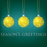 Cartolina di Natale della bagattella Fotografia Stock Libera da Diritti