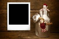 Cartolina di Natale della struttura della foto di Instan Immagini Stock Libere da Diritti