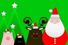 Cartolina di Natale di saluto Fotografia Stock Libera da Diritti