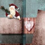 Cartolina di Natale di saluto di Santa Claus Fotografie Stock
