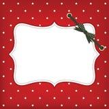 Cartolina di Natale di saluto di vettore con il blocco per grafici e l'arco Immagini Stock Libere da Diritti
