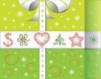 Cartolina di Natale di saluto nella forma di regalo royalty illustrazione gratis