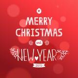 Cartolina di Natale di vettore Fotografie Stock